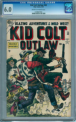 Cgc 6.0 Kid Colt Outlaw #40