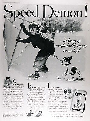 1938 CREAM OF WHEAT CEREAL Genuine Vintage Advertisement ~ RARE CDN AD