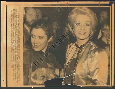 BS PHOTO afw-954 Debbie Reynolds, Carrie Fisher