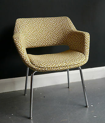 vintage 1970s Martela Oy chair recovered in Knoll frabric