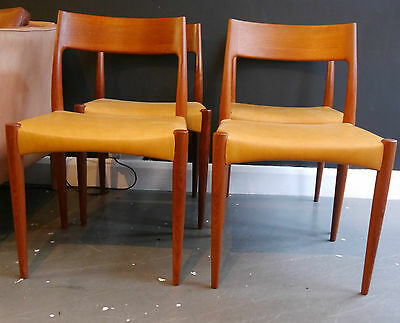 A set of four vintage 1960s Mogens Kolds dining chairs