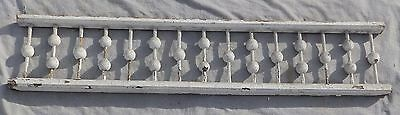 "Antique 59"" Wood Porch Span Stick Ball Spindles Old Vtg Gingerbread 1986-16"