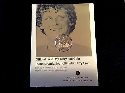 2005 Official First Day Terry Fox $1 Coin