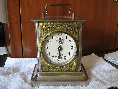Antique Carriage Clock Music Box Chime Victorian w/Key Germany