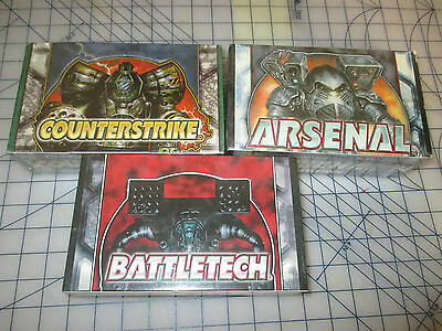 Battletech First edition + Arsenal + Counterstrike CCG/TCG 3 booster box NEW OOP