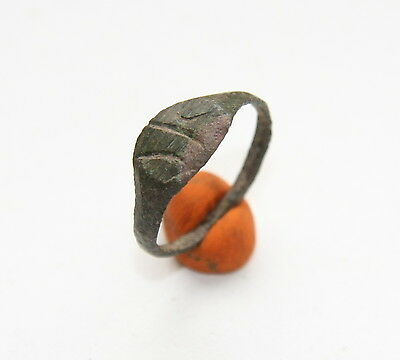 Ancient Old Viking Bronze Runic Ring (ARL65)