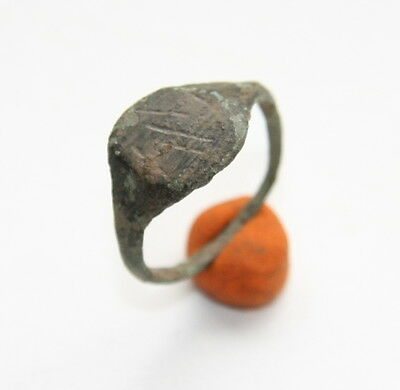 Ancient Old Viking Bronze Runic Ring (ARL55)