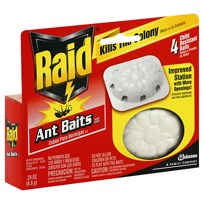 Raid Kills The Colony Ant Baits 0.24 Oz, 4 Baits