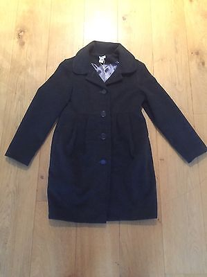 Monsoon Girls Grey Luxury Wool Coat With Silk Lining Age 12-13