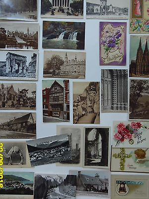 25 Vintage Postcards,Non USA-Various Countries & Holiday Greetings-Glitter,Easte