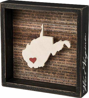 WEST VIRGINIA Primitives by Kathy Favorite Place State Box Sign