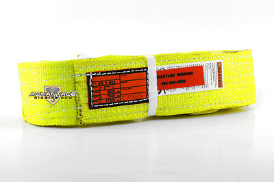 EE2-903 X4FT Nylon Lifting Sling Strap 3 Inch 2 Ply 4 Foot Feet Length USA MADE