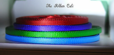 Polyester webbing 10mm smooth, heavy duty 1.1mm thick 5 colours