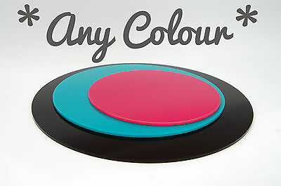 Coloured Perspex Cake Boards Round Square Display Stand Acrylic Wedding Plate