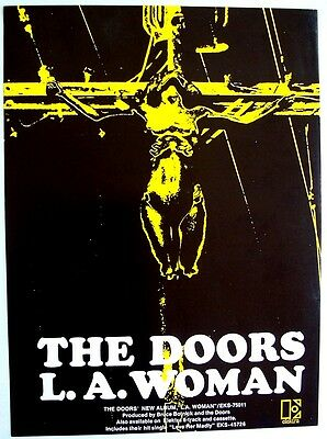 THE DOORS 1971 Poster Ad L.A. WOMAN