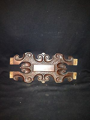 "1920's 15 5/8"" Carved Wood Pediment"