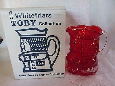 Rare Vintage Whitefriars Ruby Character Jug Jeremy with Box Not in Production.