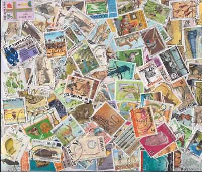 Botswana Stamp Collection - 100 Different Stamps