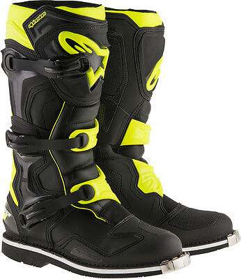 Alpinestars Tech 1 motocross offroad ATV dirtbike boots Blk Yellow Size 14 US