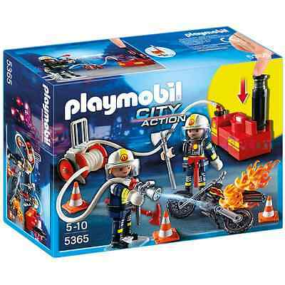 Playmobil Firefighters with Water Pump Brand New Unopened Children's Toy 5365
