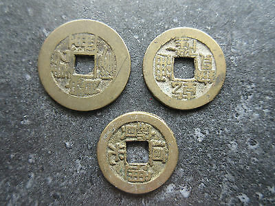 Set of 3 Genuine China I Ching Cash Coins