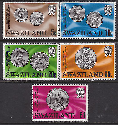 Swaziland - Mint (LH) Stamps - 1979 Coins #333 to 337 (S_68)