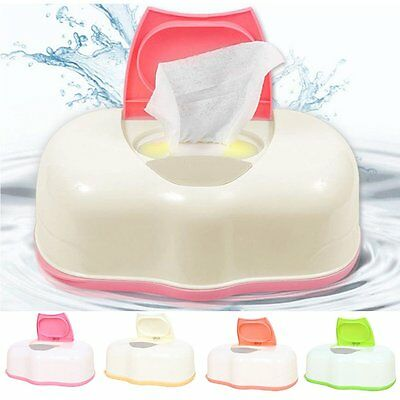 Wet Tissue Box Case Baby Easy to Open Container One Touch Home Use Storage Box