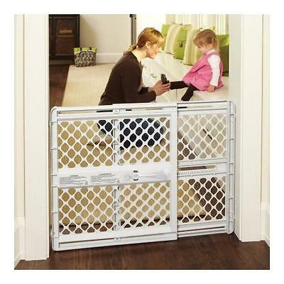 "North States Supergate Classic 26""-42"", Versatile Baby Gate, Light Gray"