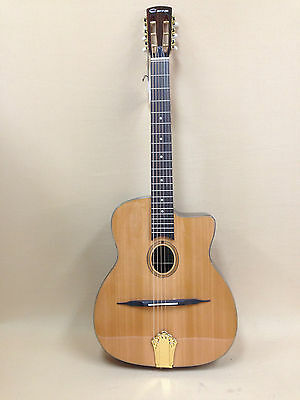 Caraya 865 Gypsy Jazz Guitar with Concealed EQ + Gig Bag + Strings - PICKUP ONLY