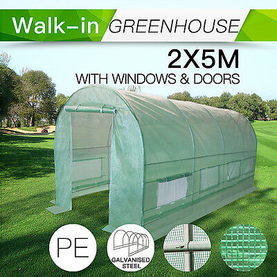 2M x 5M Garden structure and Shade  PE Polytunnel Greenhouse Shed