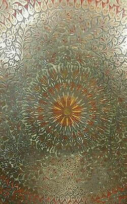 "ANTIQUE LARGE SIZE BRASS, Copper TRAY 45 ""×45"" HANDMADE"