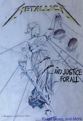 """METALLICA  Rock flag/ Tapestry/ Fabric Poster     """"And Justice For All""""    NEW"""
