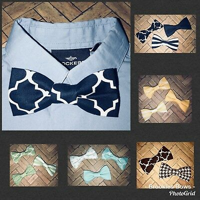 Baby Infant Toddler Boy Grab Bag Bow Tie 5  Lot Random Clip On