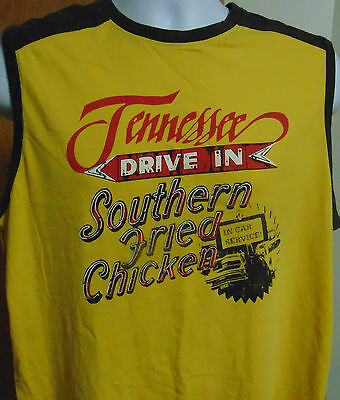 Tennessee Drive in Novelty T-Shirt Large Sleeveless