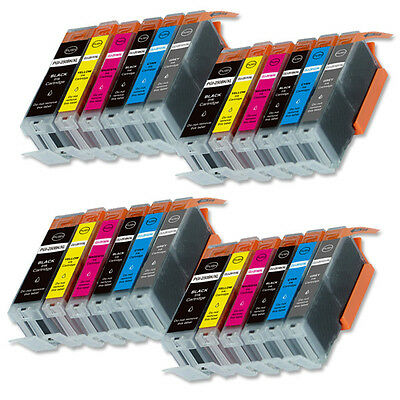 24 PK XL Ink Cartridges + smartchip for Canon PGI-250 CLI-251 MG7520 iP8720