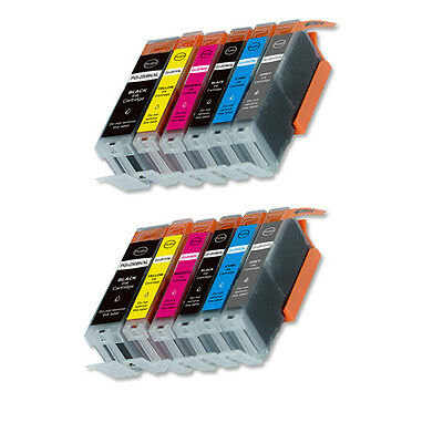 12 PK XL Ink Cartridges + smartchip for Canon PGI-250 CLI-251 MG7520 iP8720
