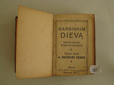 Vintage Old  1937 Formulary Prayer Religious Book Lithuanian Lietuva  N167