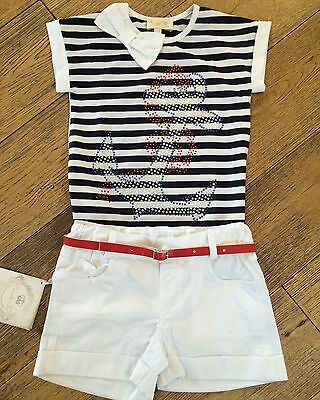SALE Couche Tot Girls Sailor Shorts Set Spanish / Romany Style BNWT 4-5 Years