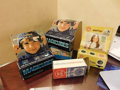 Vintage lot of 5 boxes 15 Flash cubes Magic - Sylvania  GE and Westinghouse