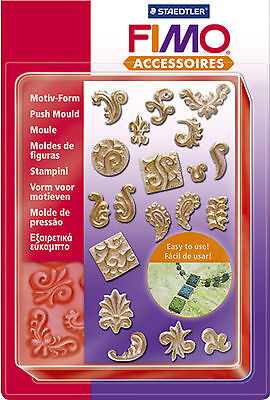 FIMO Sculpey Clay Ornaments Push Moulds For Modelling Jewellery Craft Art Fun 08