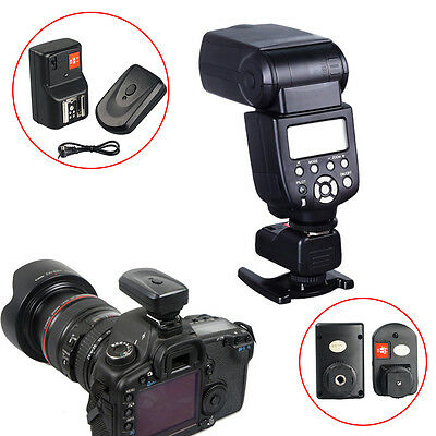 PT-04 GY 4 channel Wireless Radio Flash Trigger Kit 1/250s for Canon Nikon