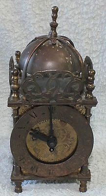 Smiths British 8 Day Brass Lantern Clock..c 1930