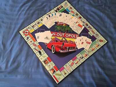In N Out Burger Monopoly Game- In-N-Out Opoly 50th  Anniversary - No Game Pieces