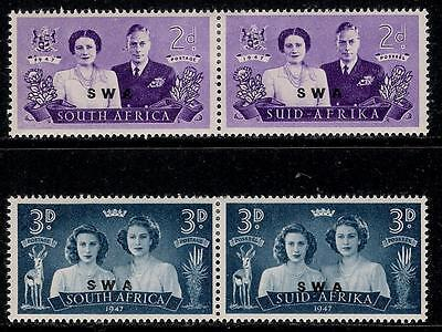 British Colony  SOUTHWEST AFRICA 1947 Old Mint Pair Stamps - Royal Visit