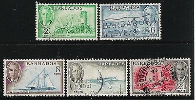 British Colony in Caribbean BARBADOS Old King George VI Stamps