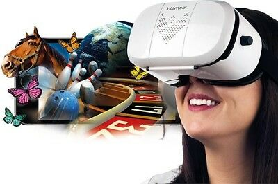 Intempo Engage 3D Virtual Reality Headset Gaming Smartphone Accessory | White