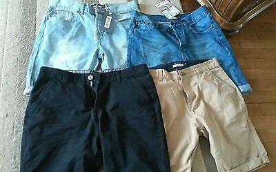 New seconds bundle mens denim and tailored asylum shorts size 32 x 4 pairs