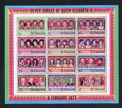St Vincent MNH 1977  25th Anniversary of the Regency of Queen Elizabeth II  M/S