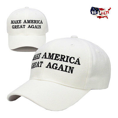 Make America Great Again - Donald Trump 2016 Hat Cap White - Republican!
