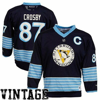 NHL Pittsburgh Penguins Sidney Crosby Youth Ice Hockey Shirt Jersey